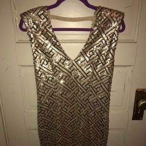 Gold Forever 21 Dress with Dip in Back